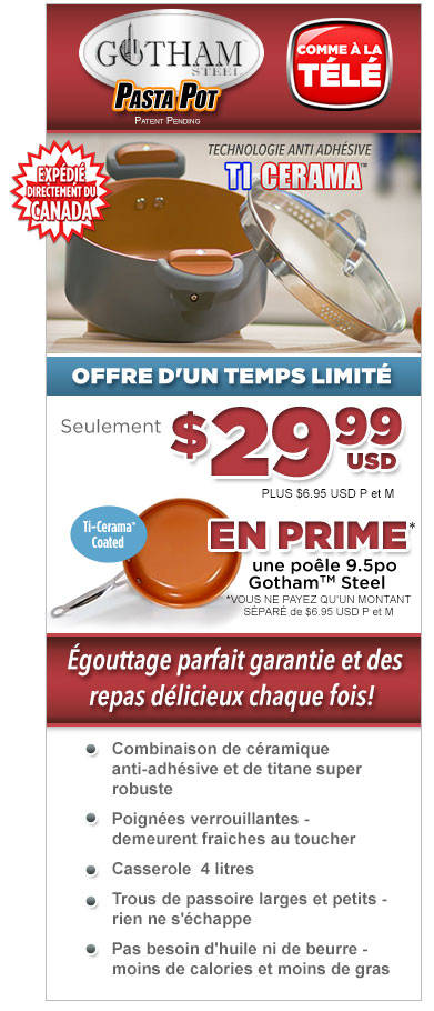 Commandez Gotham™ Steel Pasta Pot Maintenant!
