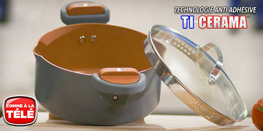 gotham steel pasta pot une nouvelle casserole pour cuire les p tes avec couvercle en verre. Black Bedroom Furniture Sets. Home Design Ideas